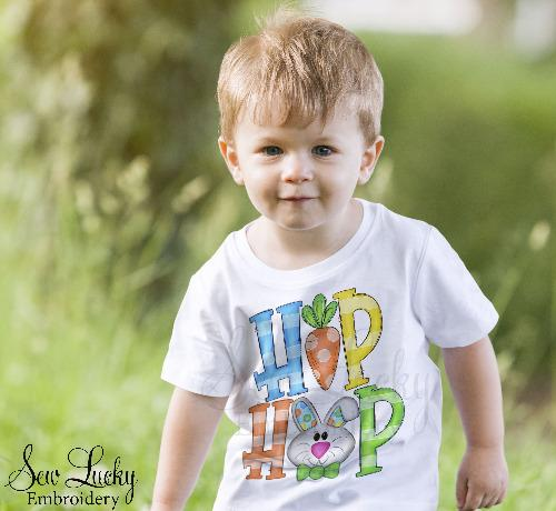 Boys Hip Hop Easter Bunny Printed Shirt