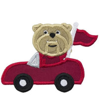 Bulldog Football Car Patch