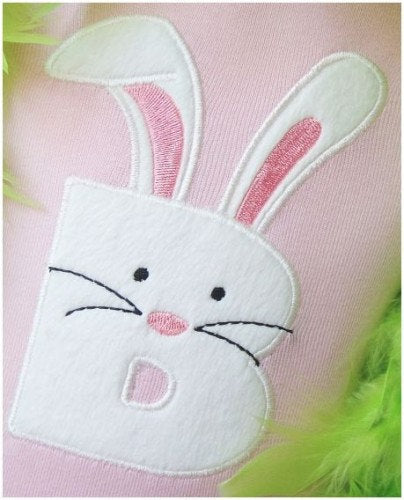 Bunny Letter or number Patch