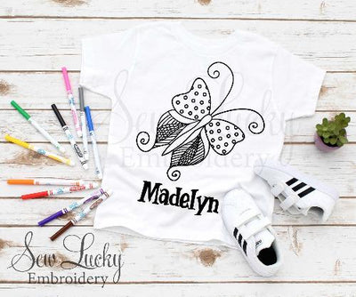 Butterfly Color Me Shirt