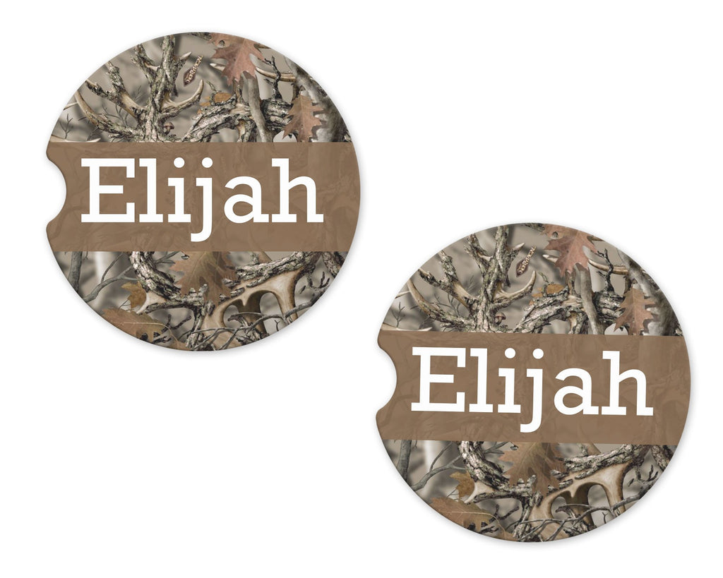 Camo Sandstone Car Coasters