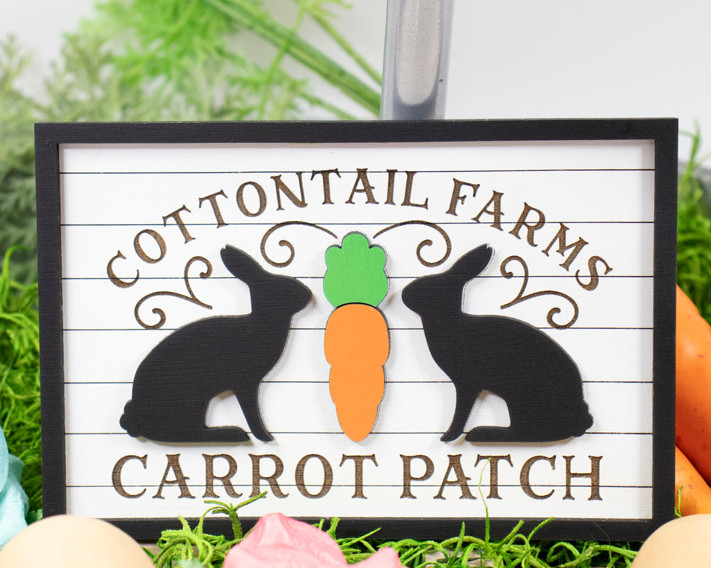 Cottontail Farms Carrot Patch Tier Tray Sign