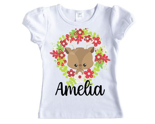 Cartoon Christmas Deer Personalized Shirt