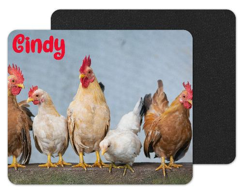 Chickens Custom Personalized Mouse Pad