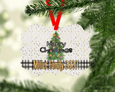 Christmas Tree Benelux Ornament Personalized
