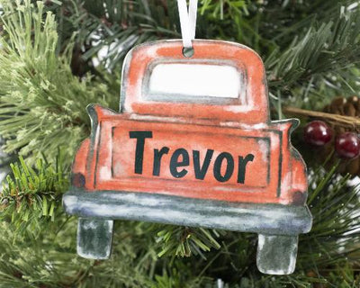 Christmas Truck Christmas Ornament Personalized