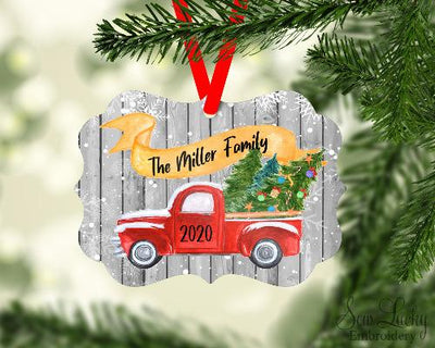 Christmas Truck Full of Christmas Trees Christmas Ornament Personalized