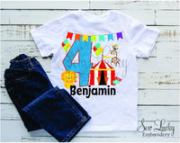 Circus Birthday Personalized Shirt - Sew Lucky Embroidery