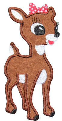 Clarice Christmas Reindeer Patch