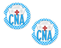 CNA Sandstone Car Coasters - Sew Lucky Embroidery