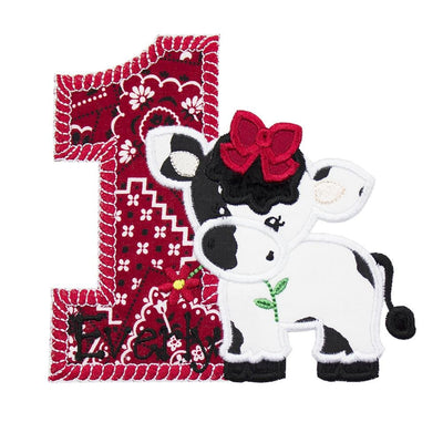 Cow Birthday Number Personalized Patch