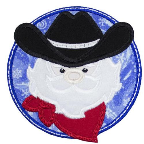 Cowboy Santa Patch - Sew Lucky Embroidery