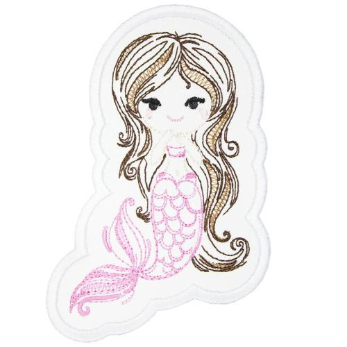 Cute Mermaid Patch - Sew Lucky Embroidery