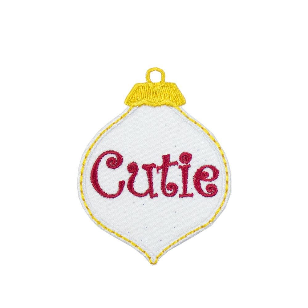 Cutie Christmas Ornament Patch - Sew Lucky Embroidery