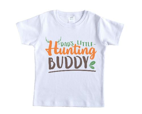 Daddy's Little Hunting Buddy Shirt - Sew Lucky Embroidery