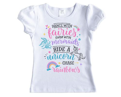 Dance with Fairies Girls Shirt - Sew Lucky Embroidery