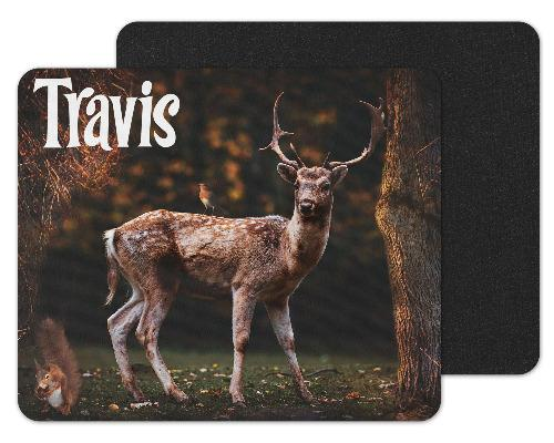 Deer Custom Personalized Mouse Pad - Sew Lucky Embroidery