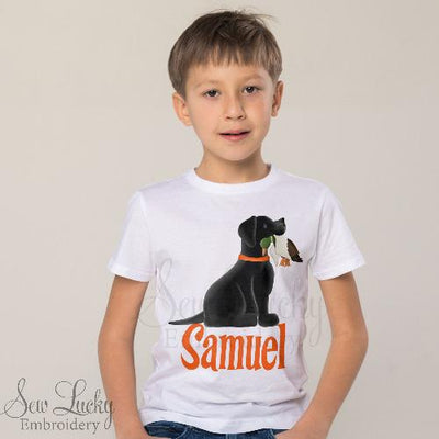 Duck Hunting with Black Lab Personalized Shirt