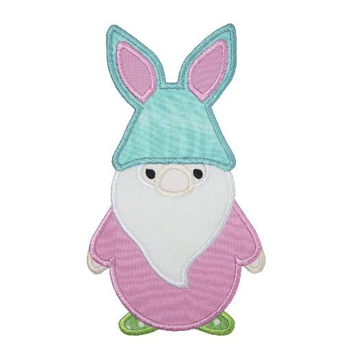 Easter Bunny Gnome Patch - Sew Lucky Embroidery