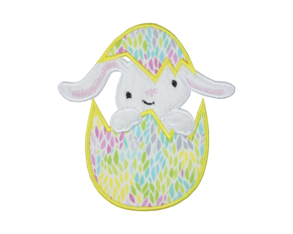 Easter Bunny in Egg Patch - Sew Lucky Embroidery
