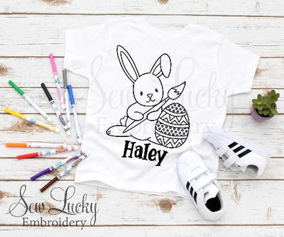 Easter Bunny Painting Color Me Shirt