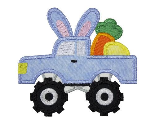 Easter Bunny Truck Patch - Sew Lucky Embroidery