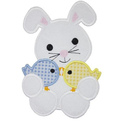 Easter Bunny with Baby Chicks Patch