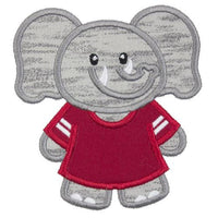 Elephant Boy Football Patch - Sew Lucky Embroidery