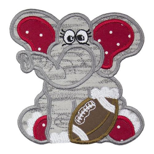 Elephant Football Patch - Sew Lucky Embroidery