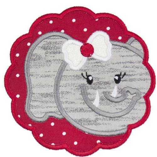 Elephant Girl Football Patch - Sew Lucky Embroidery