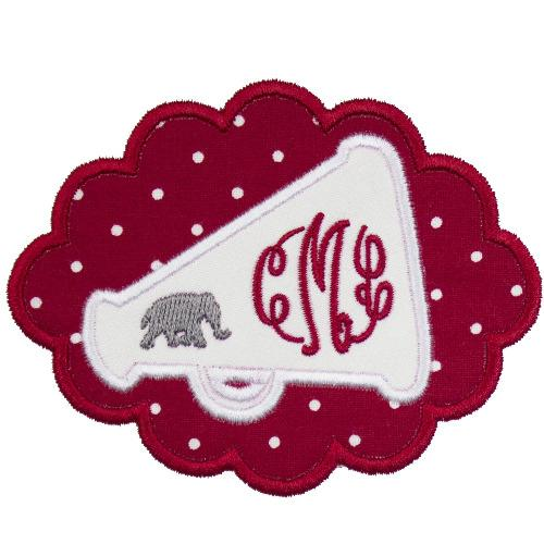 Elephant Megaphone Football Patch - Sew Lucky Embroidery