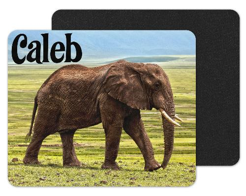 Elephant Walking Custom Personalized Mouse Pad - Sew Lucky Embroidery