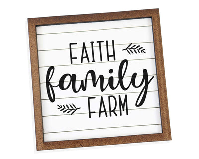 Faith Family Farm Tier Tray Sign