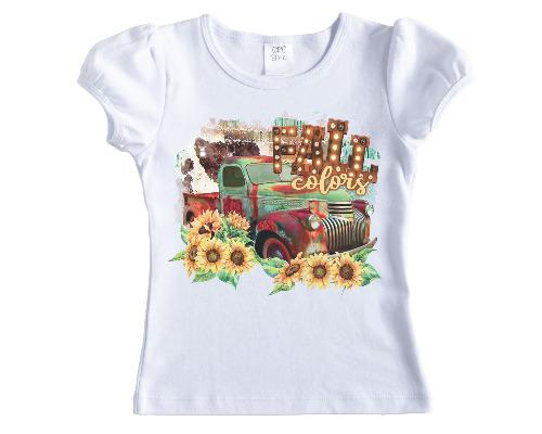 Fall Colors Truck Printed Shirt - Sew Lucky Embroidery