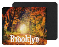 Fall Scene Custom Personalized Mouse Pad - Sew Lucky Embroidery