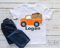 Fall Truck Personalized Shirt - Sew Lucky Embroidery