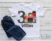 Farm Barn Birthday Personalized Shirt - Sew Lucky Embroidery