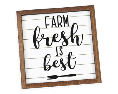 Farm Fresh is Best Tier Tray Sign