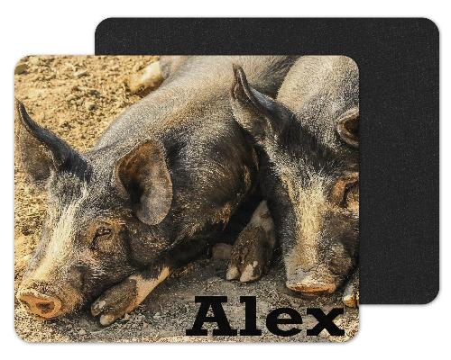 Farm Pigs Custom Personalized Mouse Pad - Sew Lucky Embroidery