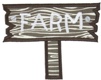 Farm Sign Patch - Sew Lucky Embroidery