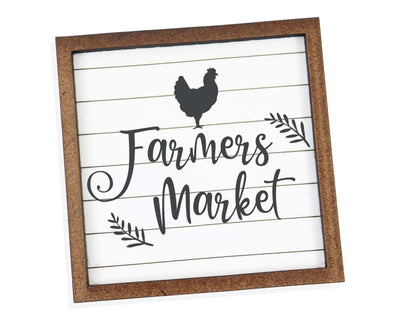 Farmer's Market Tier Tray Sign