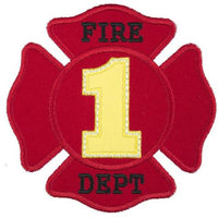 Fire Department Birthday Number Patch - Sew Lucky Embroidery