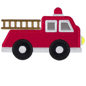 Fire Truck Patch - Sew Lucky Embroidery