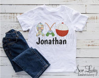 Fishing Trio Personalized Shirt - Sew Lucky Embroidery