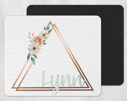 Floral Monogram Custom Personalized Mouse Pad - Sew Lucky Embroidery