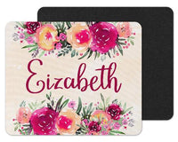 Flowers Custom Personalized Mouse Pad - Sew Lucky Embroidery