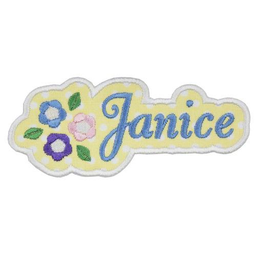 Flowers Name Patch - Sew Lucky Embroidery