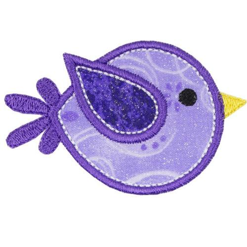 Flying Bubble Birdie Patch - Sew Lucky Embroidery