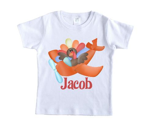 Flying Turkey Personalized Shirt - Sew Lucky Embroidery