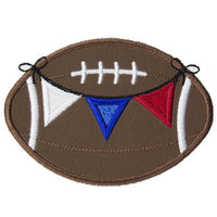 Football Banner Patch - Sew Lucky Embroidery